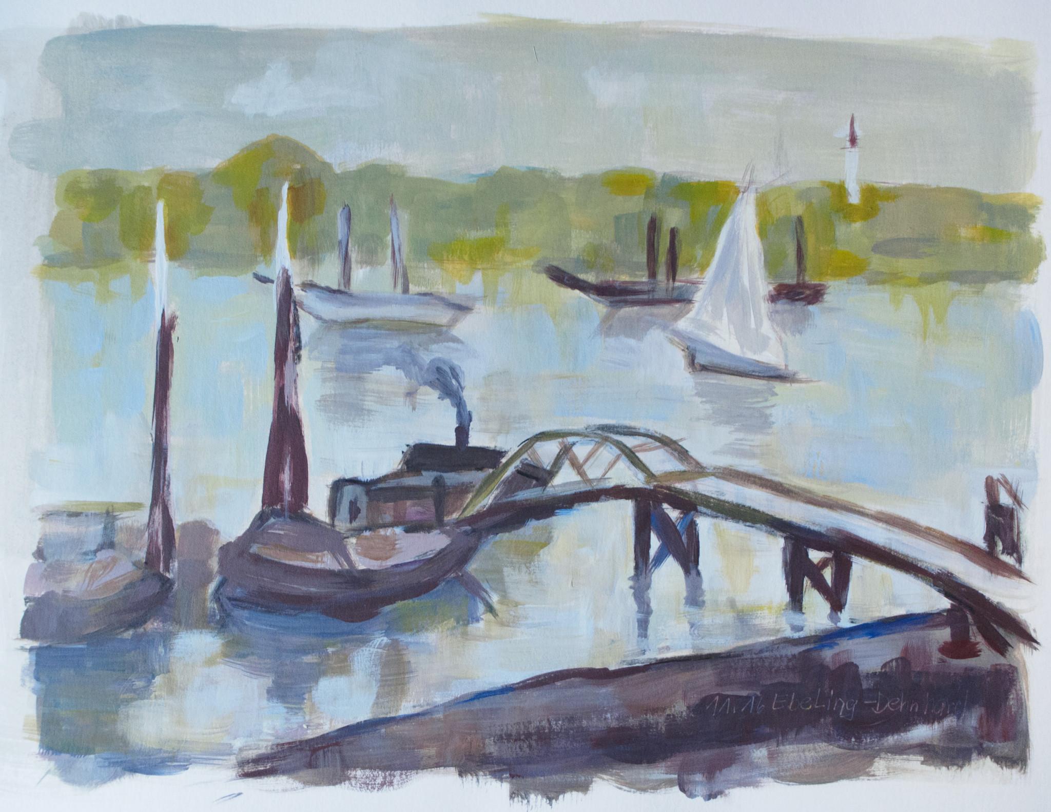 der Hafen von Bordeaux von Albert Marquet Interpretation